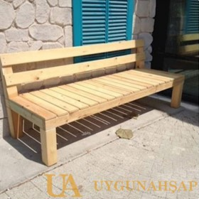 Wooden Bench With Backrest