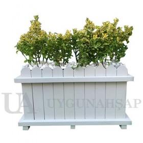 Fence Looking Wooden Flowerpot