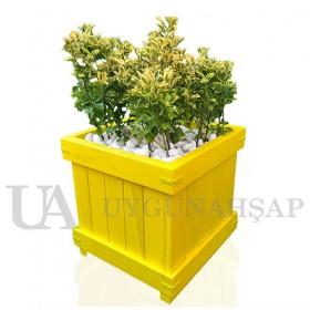 Vaulted Wooden Flowerpot