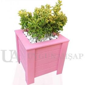 Angle Bar Wooden Flowerpot